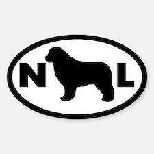 Newfoundland Dog Oval Decal