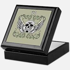 13 Hour Skull Clock Keepsake Box