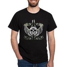 13 Hour Skull Clock T-Shirt