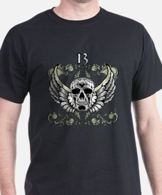 13 Hour Skull Clock T-Shirt