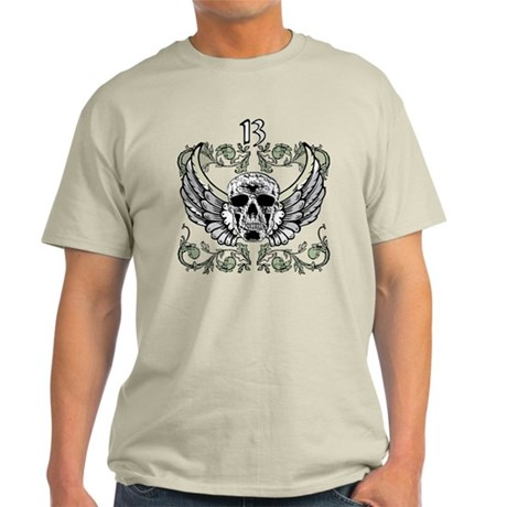 13 Hour Skull Clock Light T-Shirt