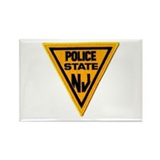 Unique State police Rectangle Magnet