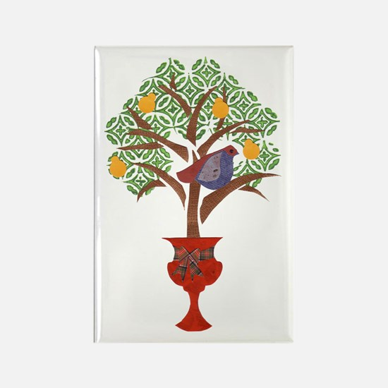 Partridge & Pear Tree Rectangle Magnet