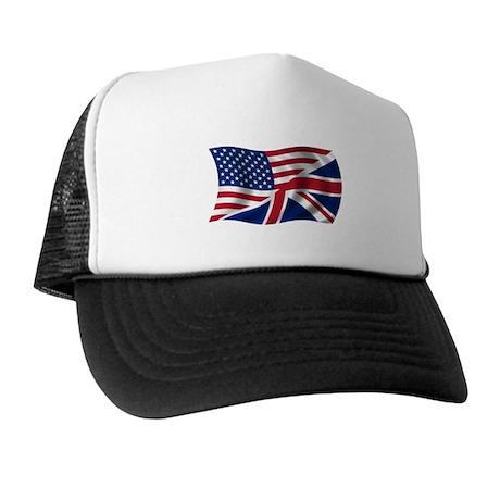 US UK Flag Trucker Hat