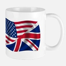 US UK Flag Mug
