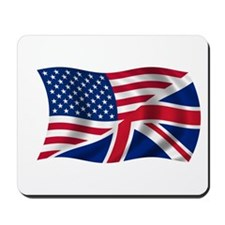 US UK Flag Mousepad