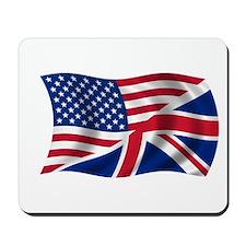 US UK Flag Mousepad