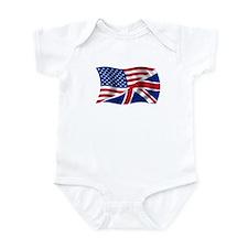 US UK Flag Infant Bodysuit
