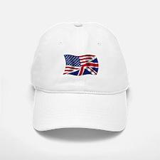 US UK Flag Baseball Baseball Cap