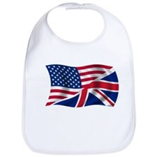 US UK Flag Bib