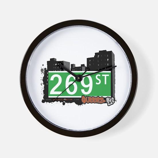 269 STREET, QUEENS, NYC Wall Clock