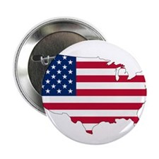 "Stars and Stripes Map 2.25"" Button"