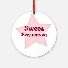Sweet Francesca Ornament (Round)