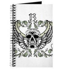 13 Hour Skull Clock Journal