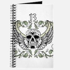 13 Hour Skull Clock Journal