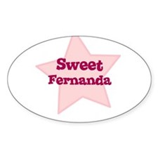 Sweet Fernanda Oval Decal
