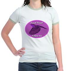 Tweet Tweet Follow Me Jr. Ringer T-Shirt