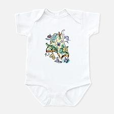 Mississippi Map Infant Bodysuit