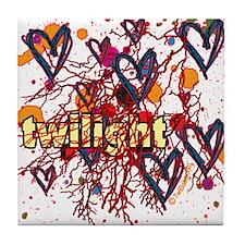 Twilight Hearts Tile Coaster