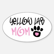 YELLOW LAB Oval Decal