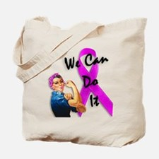 Breast Cancer Awareness, Rosie the Riveter Tote Ba