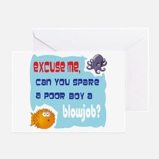 Excuse me, Greeting Card
