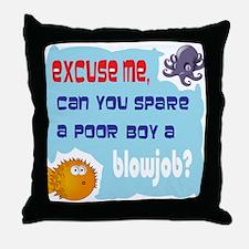 Excuse me, Throw Pillow