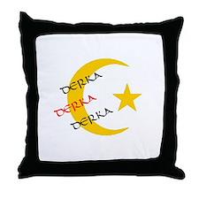 DERKA DERKA DERKA Throw Pillow