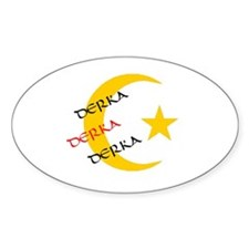 DERKA DERKA DERKA Oval Decal