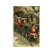 Vintage Christmas Art Rectangle Magnet