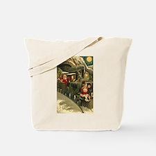 Vintage Christmas Art Tote Bag