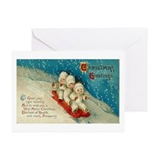 Vintage Christmas Art Greeting Cards (Pk of 10)