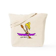 Chloe kayaking Tote Bag