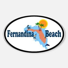 Fernandina Beach FL Oval Decal