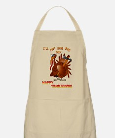 Turkey With An AX BBQ Apron