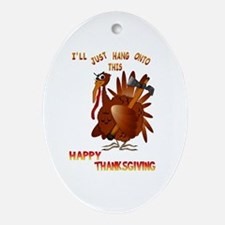 Turkey With An AX Oval Ornament
