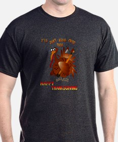 Turkey With An AX T-Shirt