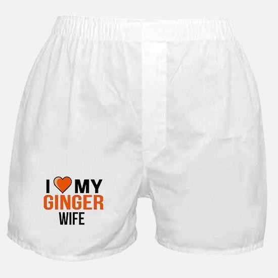 I Love My Ginger Wife, ginger girlfri Boxer Shorts