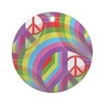 Rainbow of Peace Ornament (Round)