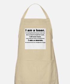 I am a loser - black and whit BBQ Apron