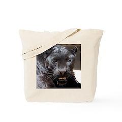Tote Bag Black Leopard and Jaguar