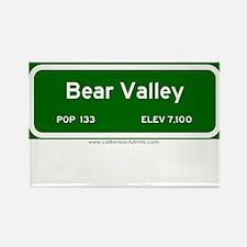 Bear Valley Rectangle Magnet