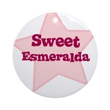 Sweet Esmeralda Ornament (Round)