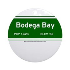 Bodega Bay Ornament (Round)