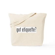 Unique Etiquette Tote Bag