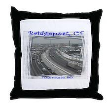 Bridgeport Snow Highway 95 Throw Pillow