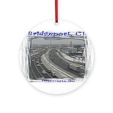 Bridgeport Snow Highway 95 Ornament (Round)