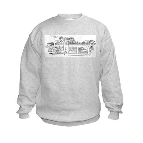 printing press Kids Sweatshirt