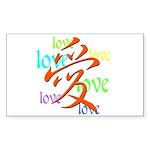 """LOVE"" Rectangle Sticker"