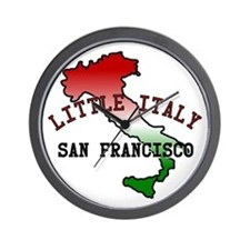 Little Italy San Francisco Wall Clock